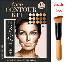 15 Colors Concealer kit Palette with Brush Face Makeup Contour Cream, Palette #2