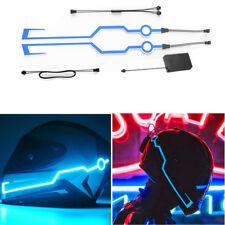 2 Pcs Rechargeable DIY Helmet Blue Decor Light Strip Night Riding Warning Signal