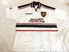 *MINT Manchester United Umbro White Away Shirt 1997/1998/1999, XXL,Treble, Giggs