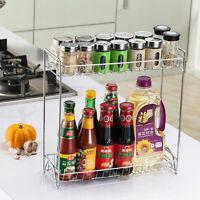 Kitchen Countertop Worktop Organiser Storage Holder Rack Spice Jar Can Bottle