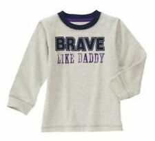 18-24 Months, Gymboree SHIELDS & SAILS, Brave Like Daddy Long Sleeve Tee, NWT