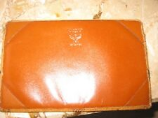 Authentic   *MCM* -  CASE for PAPER SLIPS   in cognac / tan   -----   NEW