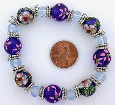 Style Stretch Bracelets Ms5 Beautiful Deep Blue Aqua Murano