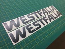 VW Volkswagen Camper WESTFALIA Vanagon   Splitty T2 T25 Bay Stickers Decals