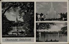 1942 Stempel CHEMNITZ auf Feldpost-AK mit Briefstempel gelaufen nach Zwönitz