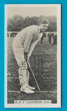 WILLS 1929 CRICKET SEASON A.P.F.CHAPMAN (Kent) CIGARETTE CARD