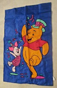 Disney~Winnie the Pooh & Piglet ~Large Outdoor House-Garden-Porch Flag~44 x 28