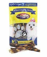 10 Pack All Natural BullyWraps Beef Jerky Wrapped Bully Sticks by Shadow River