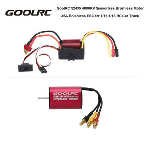GoolRC S2435 4800KV Brushless Motor and 35A  for 1/16 RC Car N1F2
