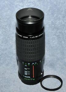 Asahi Optical Pentax Takumar Bayonet K mount 80-200mm 1:4.5 Zoom Lens + Filter