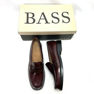 GH BASS WEEJUNS Penny Loafer Cordovan Burgundy Leather Women's Size 9 M