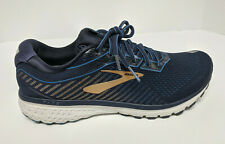 Brooks Ghost 12 Running Shoes, Navy/Gold, Men's 11.5 M