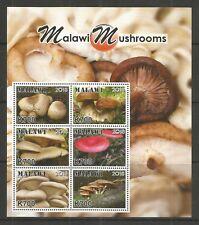 MALAWI 2018 MALAWI MUSHROOMS 6v MINISHEET U/MM NH LOT L594