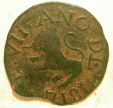 Venezuela Guayana Province 1814 Copper 1/2 Real Circulated