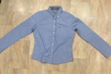 Hollister Fitted Long Sleeve Light Blue Shirt Cotton Collared Buttons Size Small