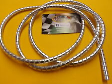 CHROME CABLE SPIRAL WRAP/COVER 5MM 1.6M., FOR CUSTOM SCOOTERS, MOTORCYCLES, CARS