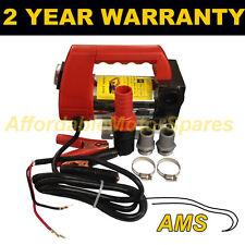 12V électrique portable Carburant Diesel Eau Pompe de transfert clip sur batterie