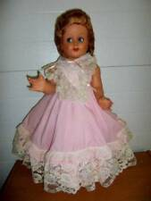 "Depositato Liala 66 ~ Vintage 1950's Paper Mache ? Doll 24"" Italy Spain?"