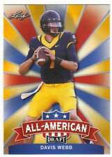 2017 Leaf Draft Football All-American Gold #AA-08 Davis Webb