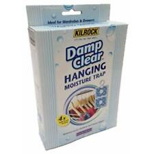 Kilrock Damp Clear Hanging Moisture Trap 4 x 50g Perfect for Wardrobes & Drawers