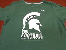 Nike Womens Michigan State Spartans Football 2011 Victory MSU T Shirt Medium  S5