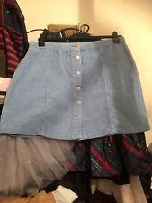 Womens Size 18 Blue Corduroy Short Skirt, New Look Brand