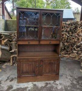 Vintage Old Charm Oak Dresser / Display Cabinet Quality Made Furniture