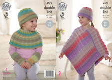 Girls' Ponchos DK/Double Knit Crocheting & Knitting Patterns