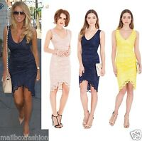 Amy Childs Style Lace Dress Wrap Vintage Bodycon JO Party TOWIE Size 8 10 12