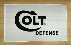 Colt Defense Firearms 3x5 ft Flag Banner Gun Rifle Pistol NRA