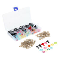 70Pcs Shinning Plastic Safety Eyes + 35 Noses + 35 Mouth For Teddy Bear Doll