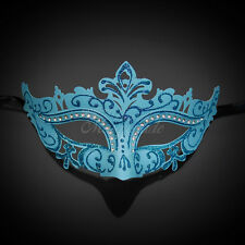 Classic Mardi Gras Venetian Masquerade Mask for Women M7105 [Teal]