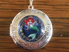 Ariel The Little Mermaid Locket Pendant Necklace. Silver Disney Princess