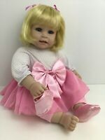 "Adora Baby Doll Girl 20"" Blonde Blue Eyes Lashes Teeth Original Outfit 2013"