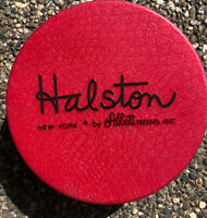 Vintage Halston Abbott Tresses New York Red Round Wig Mid Century Designer Box