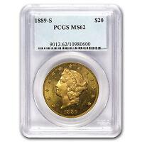 1889-S $20 Liberty Gold Double Eagle MS-62 PCGS