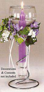 Wedding Single Glass/Metal floating candle holder set