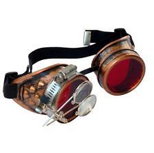 Steampunk goggles Zombie welding diesel punk biker goth cosplay rave lens CC R
