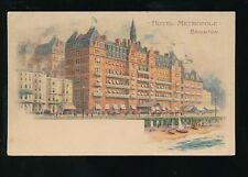 Sussex BRIGHTON Hotel Metropole advert 1908 PPC