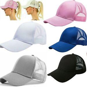 Ladies MESH Ponytail BASEBALL CAP Adjustable / Cotton / Women  SAME DAY POST