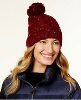 Steve Madden Women's Maroon Speckled Cable Beanie, One Size Fits All