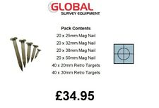 Survey Engineers Pack 25,32,38 & 50mm Mag Nails & 20,30mm Reflective Targets