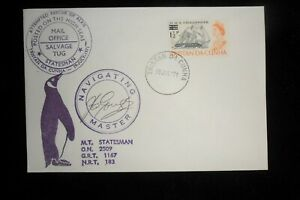 TRISTAN DA CUNHA  ATTRACTIVE PAQUEBOT COVER SIGNED BY THE MASTER