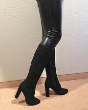Gr.41 TOP ! Exklusiv Sexy Damen Schuhe Kniestiefe Stiletto Stiefel Männer Boots