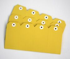 x40 SHIPPING TAGS - size 4 YELLOW swing gift tags labels Christmas - 54 x 108mm