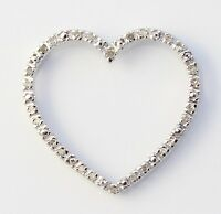 10k Yellow Gold Diamond Heart Charm Necklace Pendant