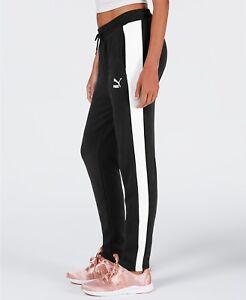 Puma  WOMENS Classics T7 Track Pants - BLACK - MEDIUM - BRAND NEW