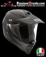 Casco Agv Ax8 Dual Evo black matt nero opaco helmet motard enduro