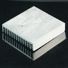 4.5x4.5inch Aluminum Alloy Heat Sink for 30W 50W 60W LED Silver White heatsink