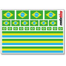 BRASILIEN AUFKLEBER | FLAGGEN STICKER | HELM FAHRRAD MODELLBAU BOBBYCAR AUTO